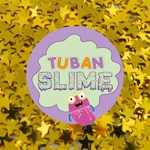 Brokat - złote gwiazdki TUBAN