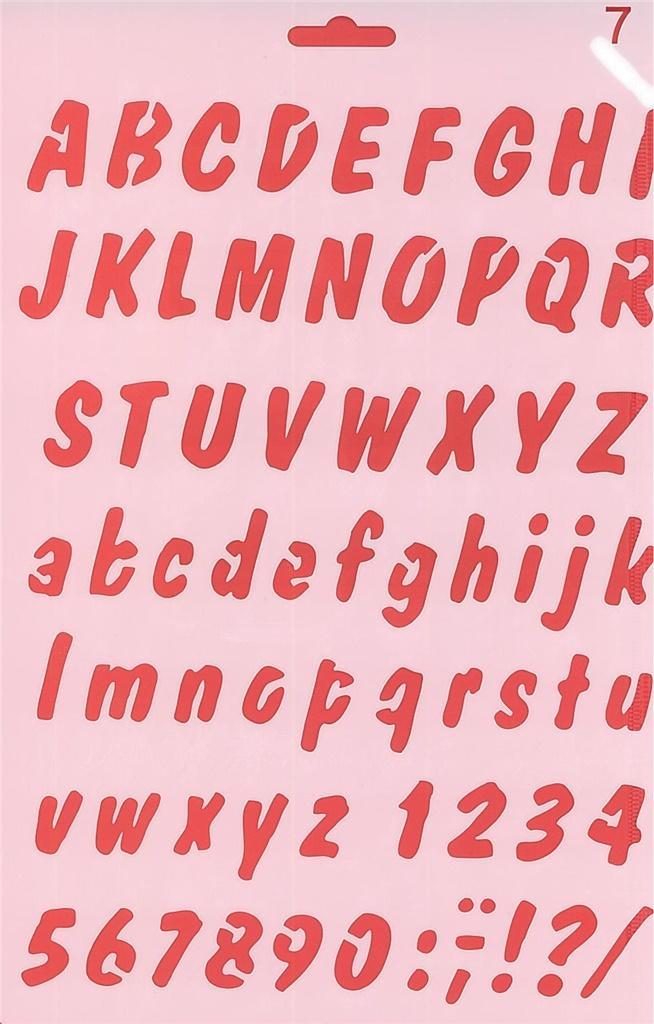 Szablon 07 alfabet