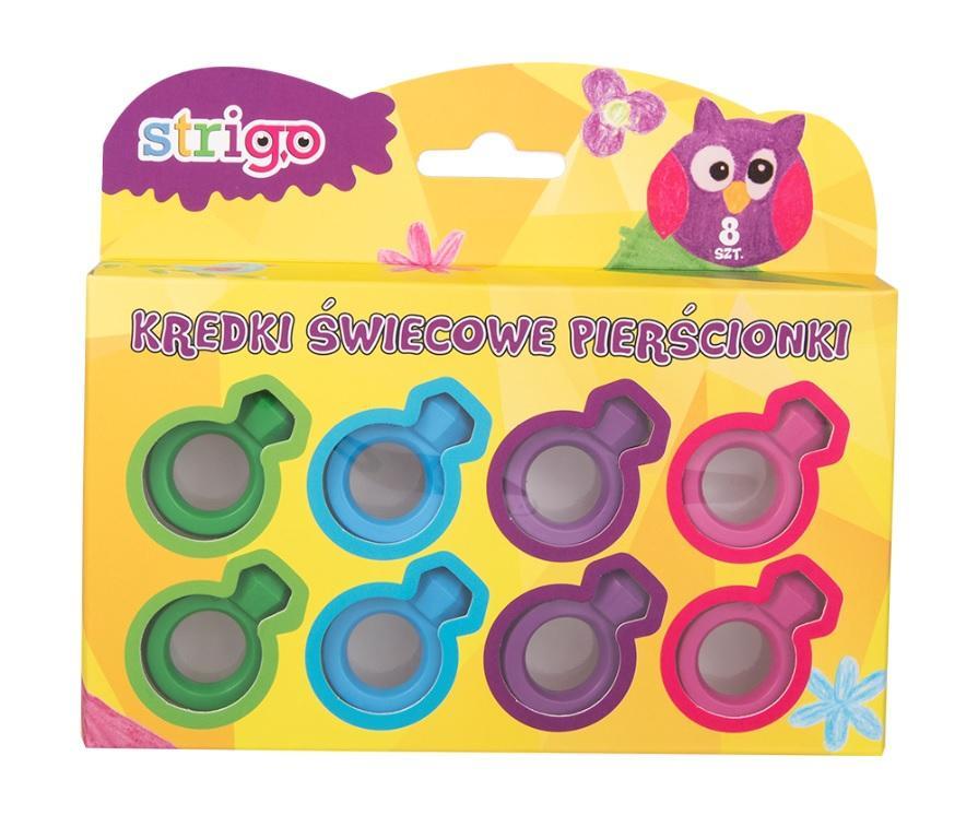 Kredki dla dzieci Pierścionki 4 kolory STRIGO