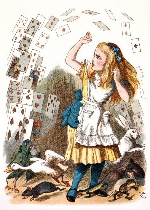 Karnet B6 z kopertą Alice and the Shower of Cards