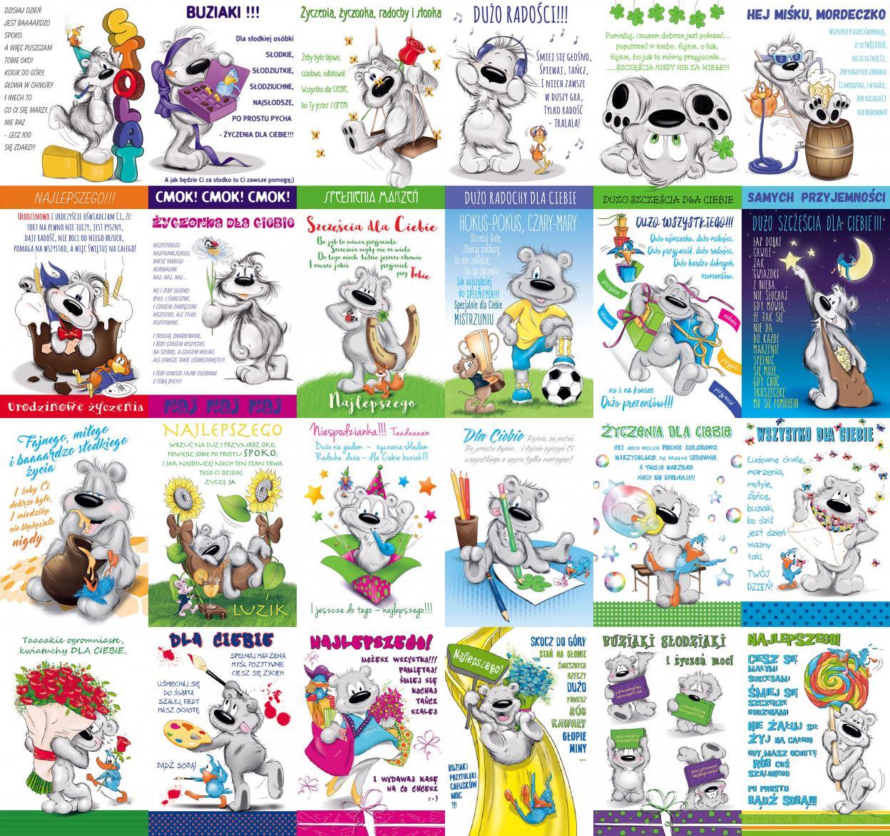 Karnet Happy B6 + koperta mix wzorów
