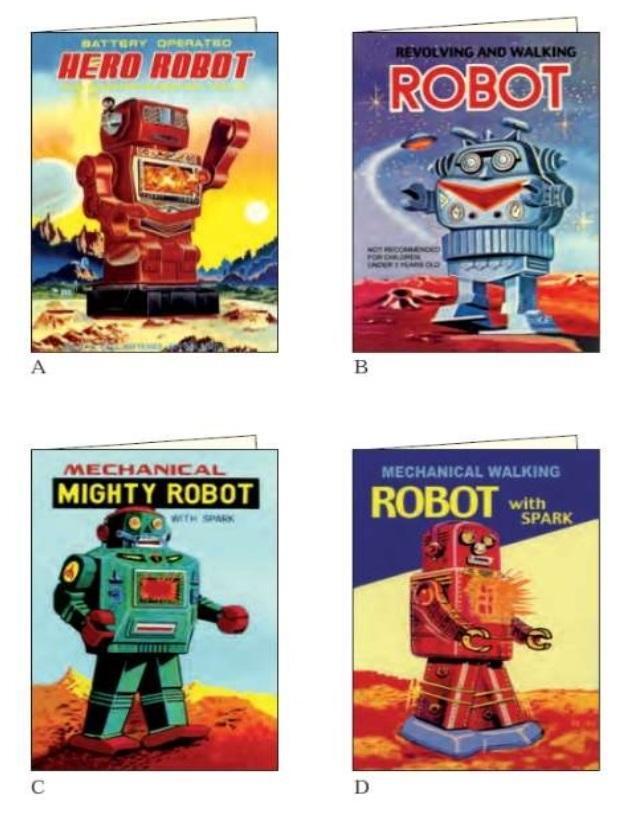 Karnet z kopertą AGR 057 Roboty 11,5x17cm ROSSI