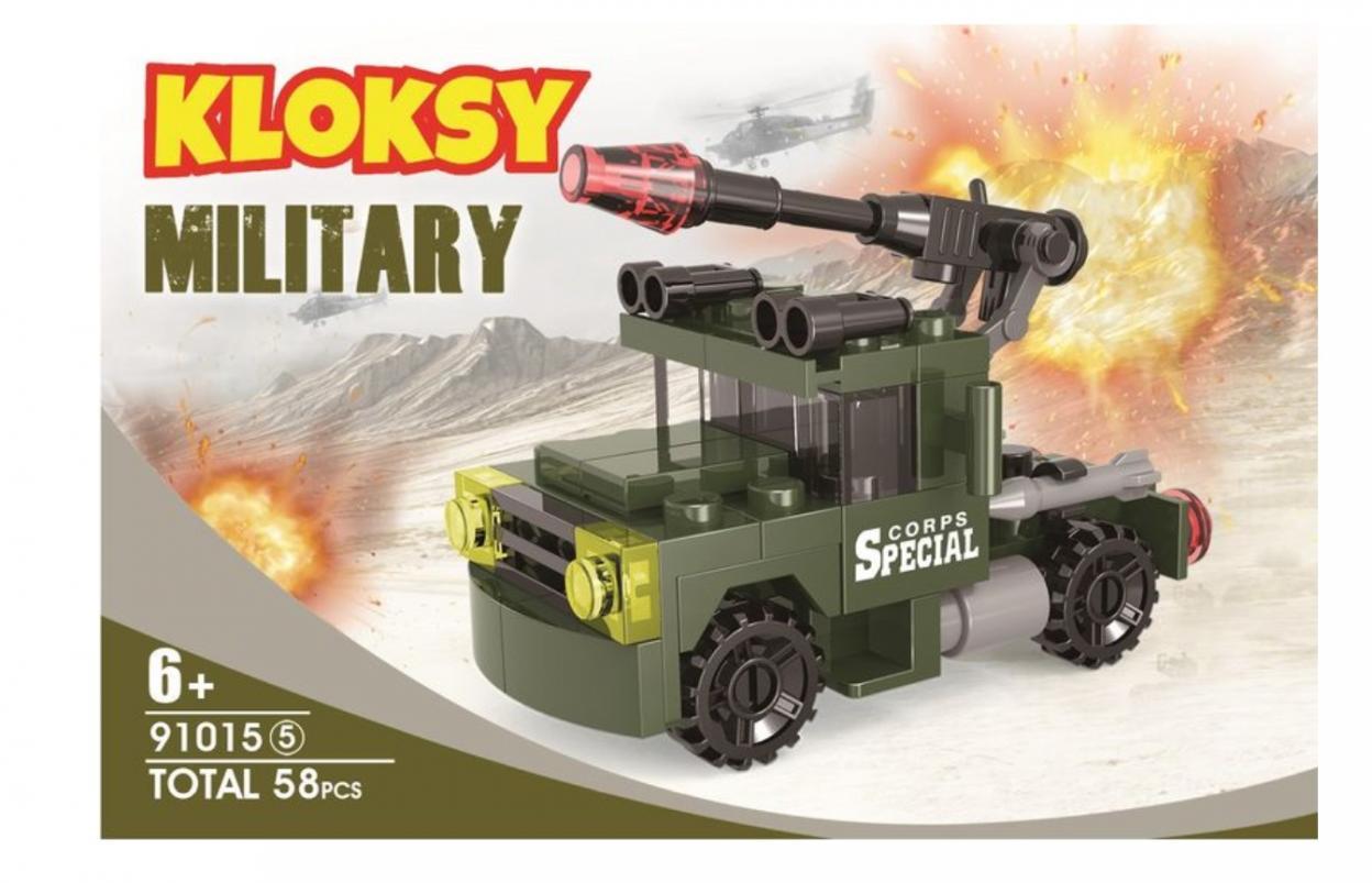 Klocki Kloksy Armia wyrzutnia rakiet 58 elementów