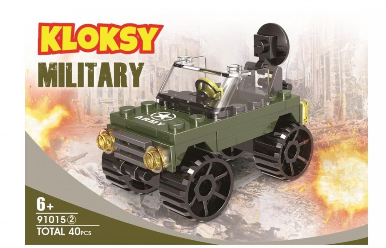 Klocki Kloksy Armia samochód wojskowy 40 elementów