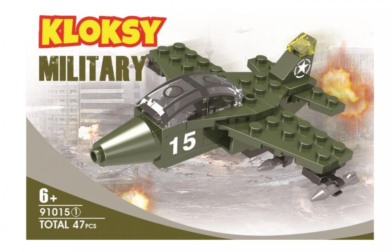 Klocki Kloksy Armia samolot 47 elementów