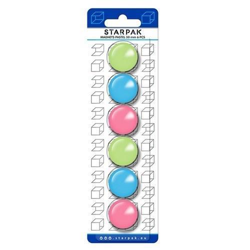 Magnes mix pastelowe 30mm 6el