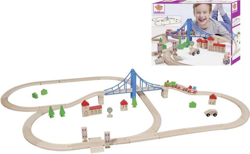 Kolejka tor z mostem, 55 elementów