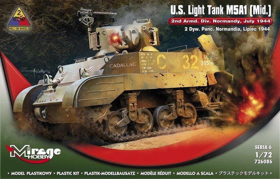 """Lekki Czołg """"M5A1"""" Normandia"""