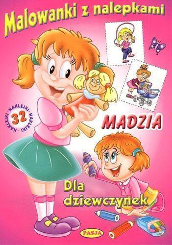 Malowanki z nalepkami - Madzia