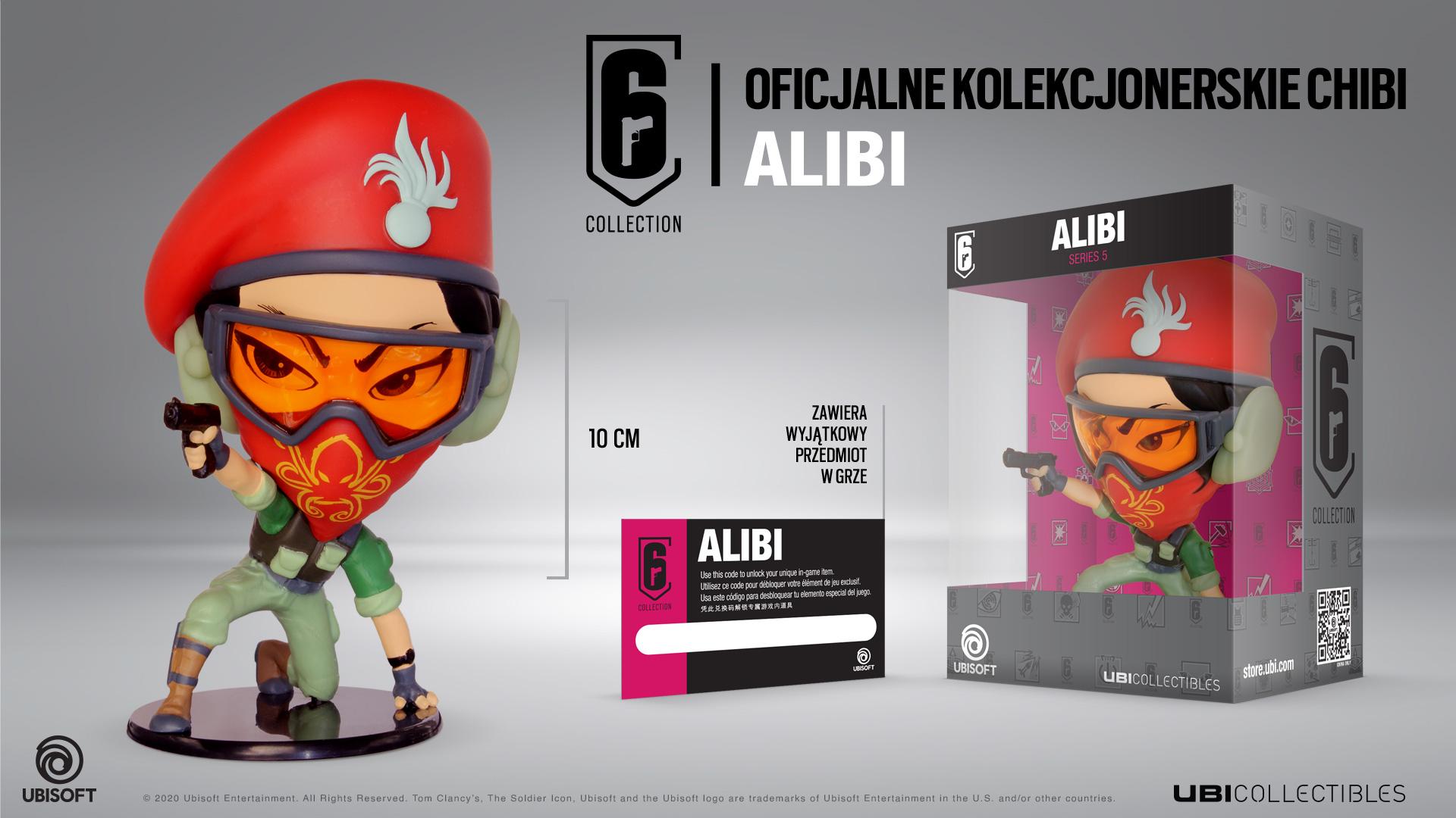 Collectibles: Rainbow Six Siege - Alibi Figurka
