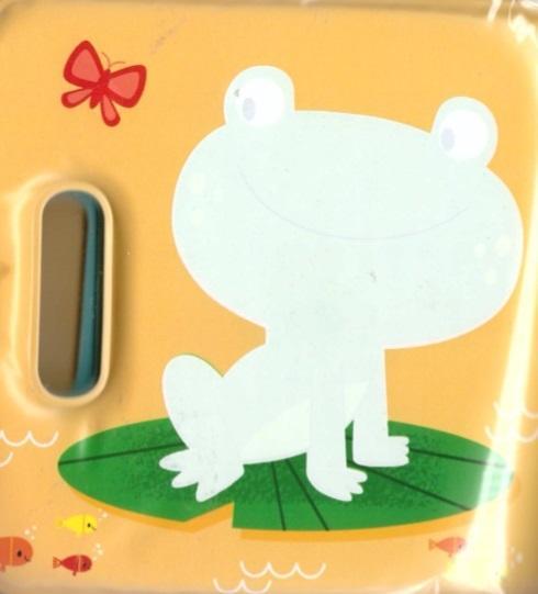 Magiczna książeczka kąpielowa z piszczałką-żabka