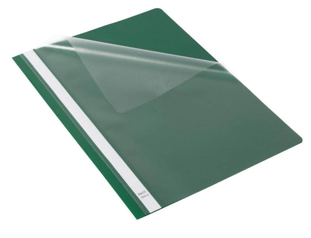 Skoroszyt Budget PP A4 z wąsami zielony (25szt)