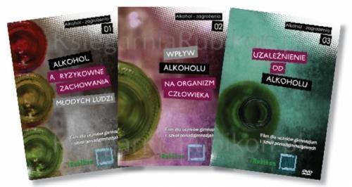 ALKOHOL ZAGROŻENIA - Pakiet 3 filmów na DVD
