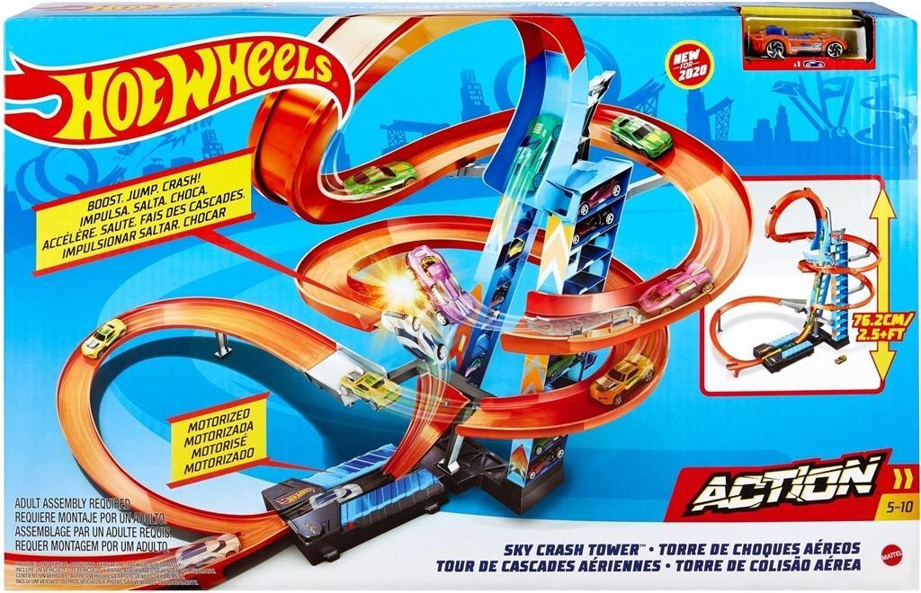 Hot Wheels City Zestaw Wieża Podniebne kraksy