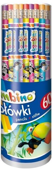 Ołówki z gumką (60szt) BAMBINO