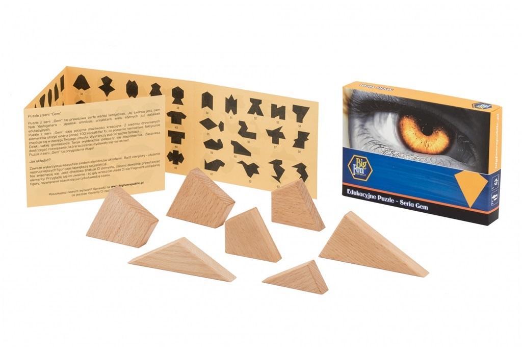 Puzzle drewniane - seria GEM