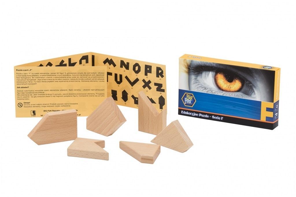 Puzzle drewniane - seria F