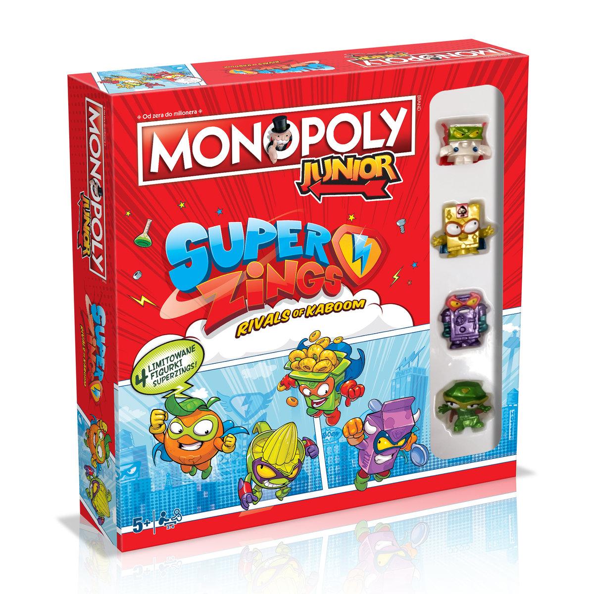 Monopoly Junior Super Zings (gra planszowa)