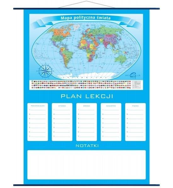 Plan lekcji - mapa Świat Polityczny