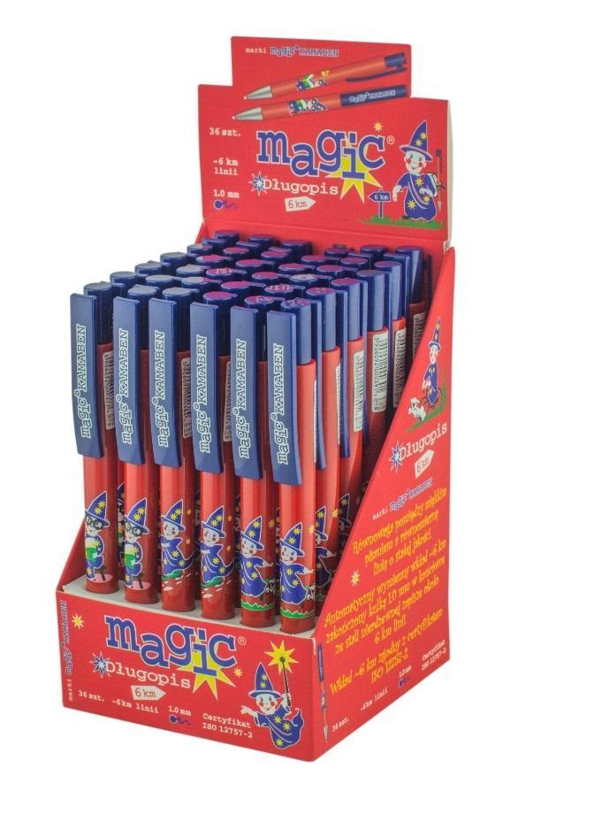 Długopis Magic niebieski 6km (36szt) KAMABEN