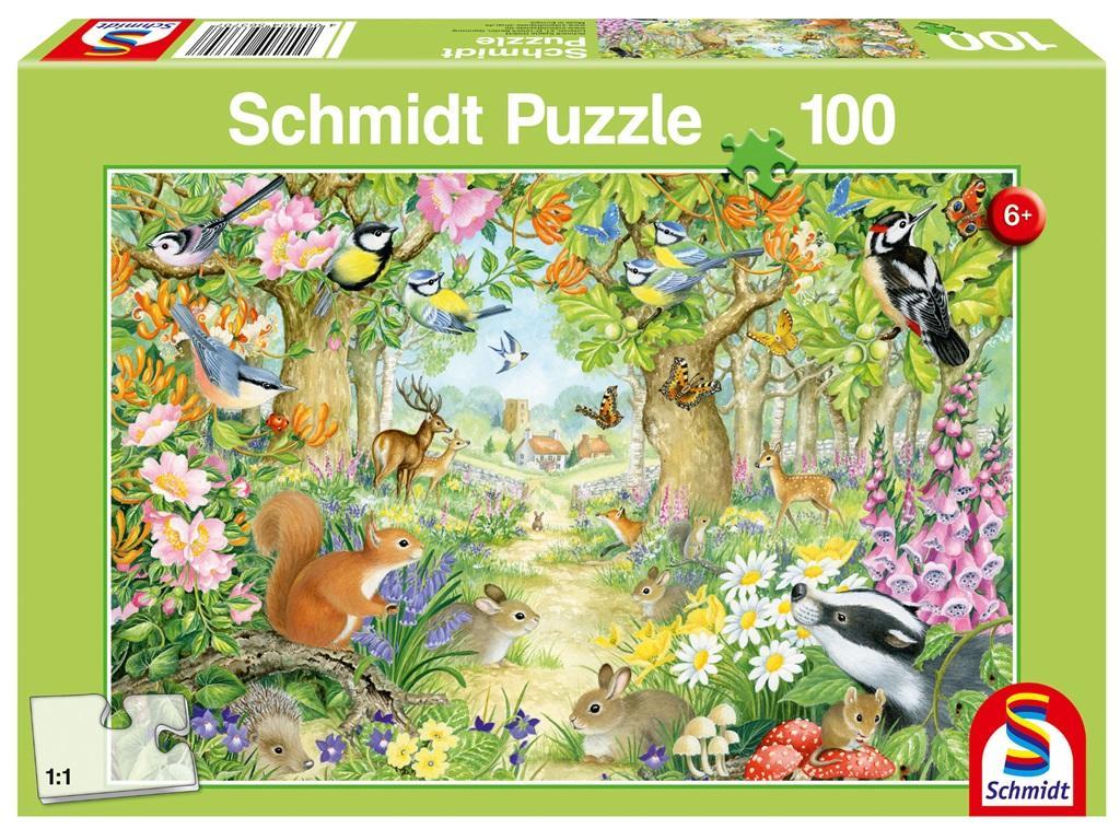 Puzzle 100 Leśne zwierzęta G3