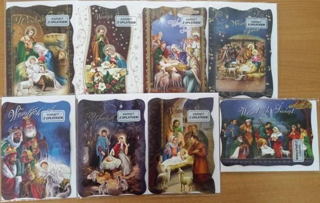 Karnet Boże Narodzenie B6 z opłatkiem + koperta