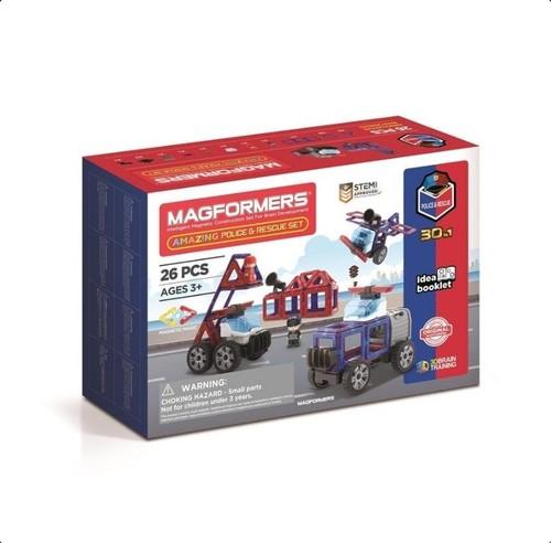 Magformers Zestaw policyjny i ratunkowy 26 elementów
