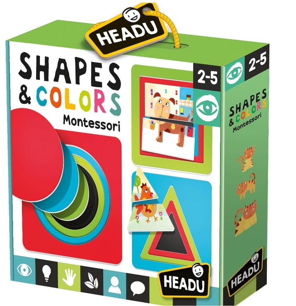 Montessori Kształty i kolory HEADU