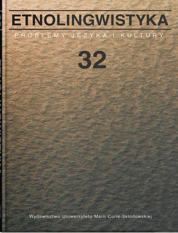 Etnolingwistyka T. 32 Problemy Języka i Kultury