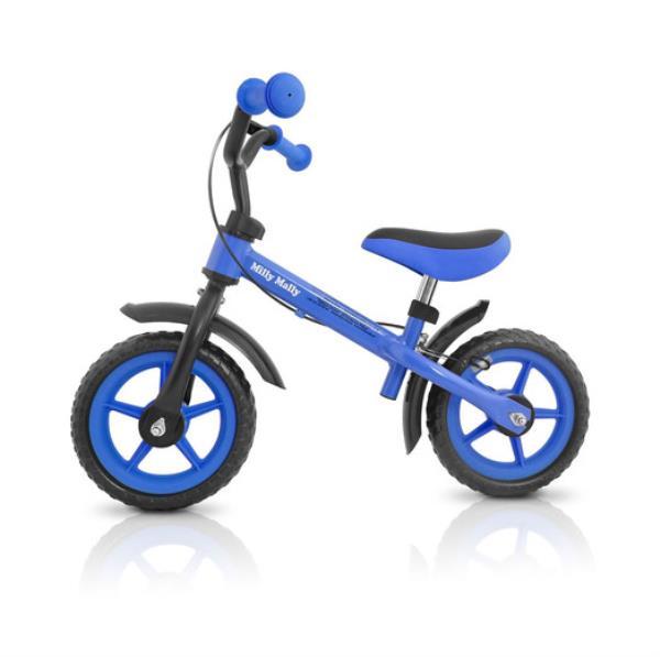 Rowerek biegowy Dragon z hamulcem blue. MILLY MALLY