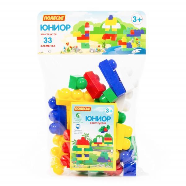 "Polesie 6646 Klocki ""Junior"" - 33 elem. w worku"