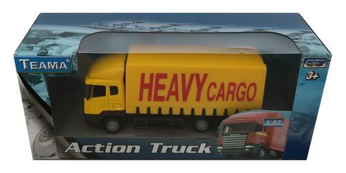 Teama ciężarówka Scania żółta 1:87