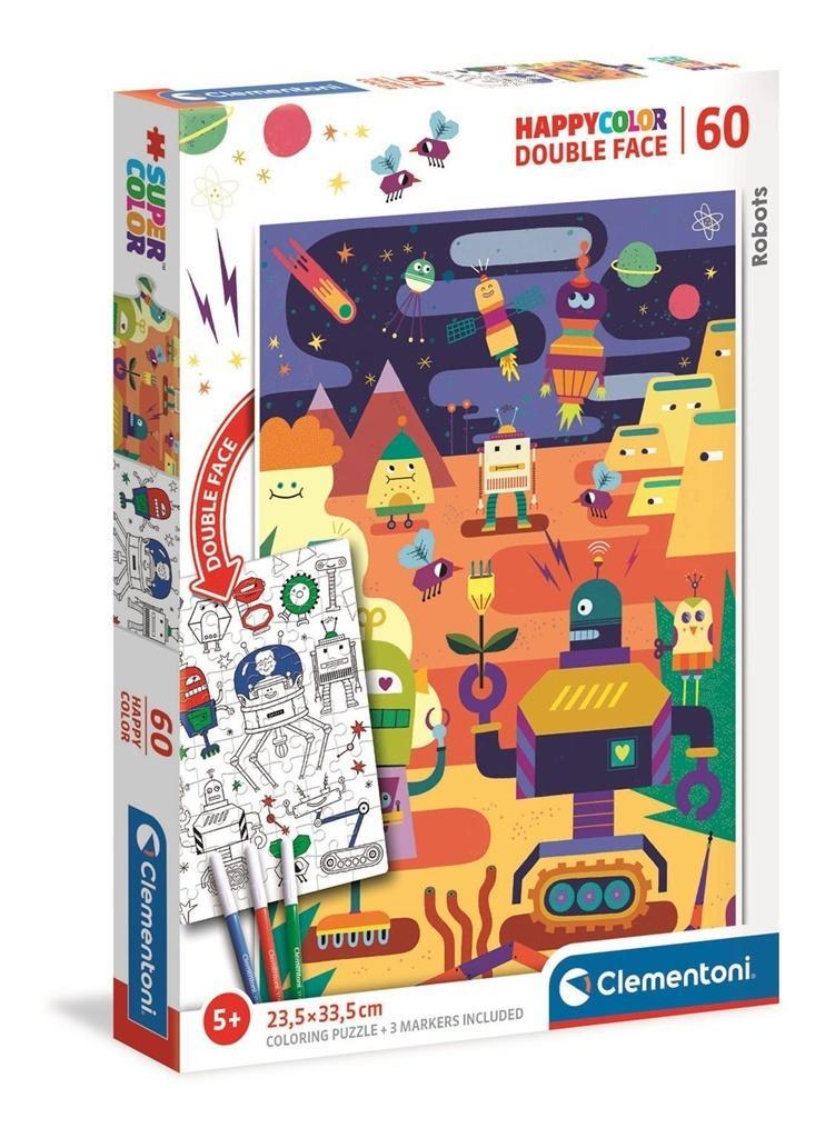 Puzzle 60 Happy Kolor Double Face Robot