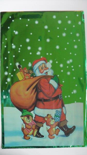Torba foliowa 25/40 świąteczna D p25/cena za 1szt.