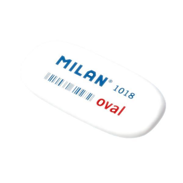 Gumka 1018 syntetyczna owalna biała p18. MILAN, cena za 1szt