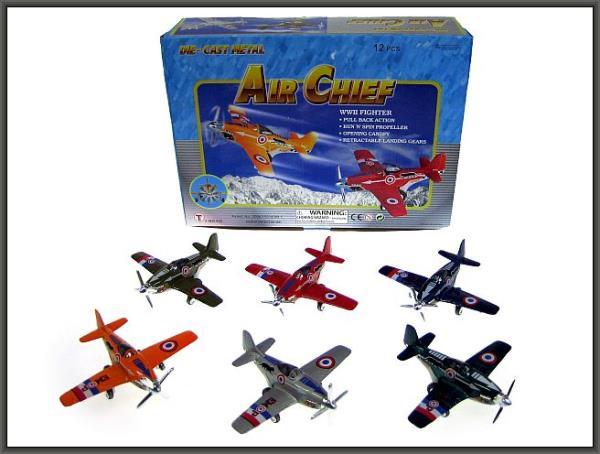Samolot metal. 12cm napęd p12 mix kolorów cena za 1szt.