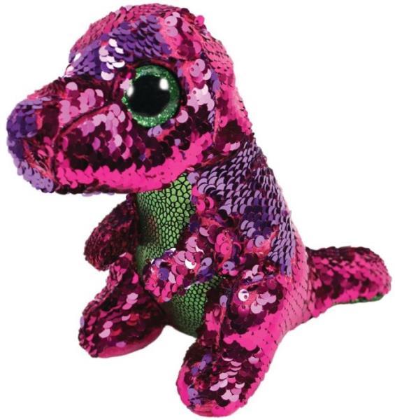 TY BOOS Flippables STOMPY - dinozaur cekinowy 24cm 36431 TY