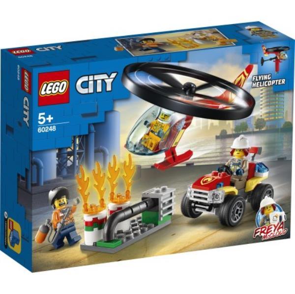 LEGO 60248 CITY Helikopter strażacki leci na ratunek p3