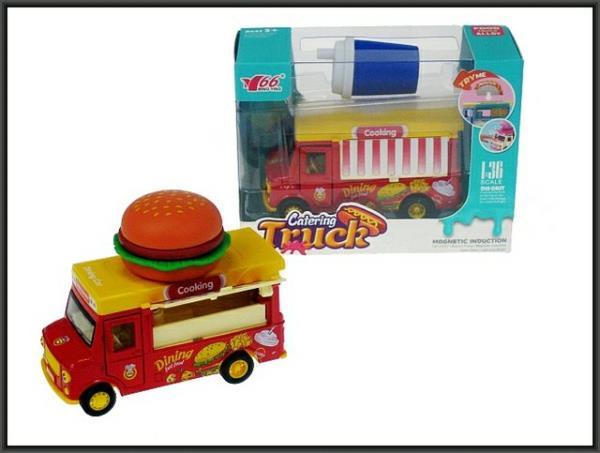 Auto Food Track 11cm magnes Hmaburger/Napój w pud. MY66-Q1297/96 HIPO cena za 1 szt