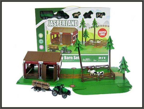Zagroda 72el. + traktor w pudełku 5279-34 HIPO