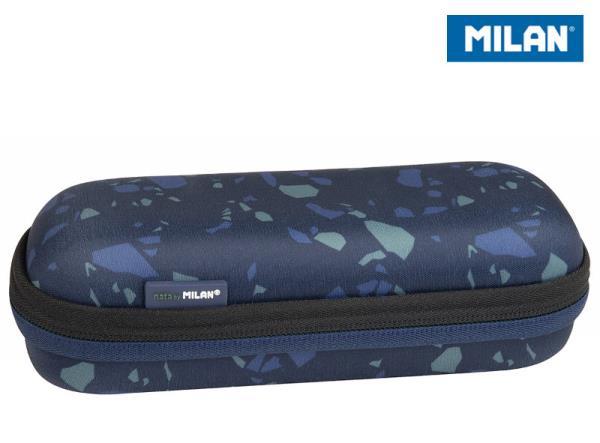 Piórnik owalny usztywniany Terrazzo niebieski 081145TZB MILAN