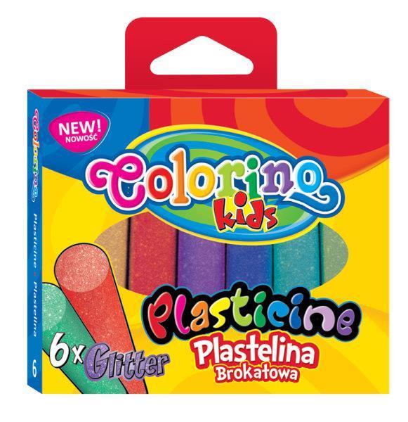 Plastelina 6 kol. Brokat Colorino Kids