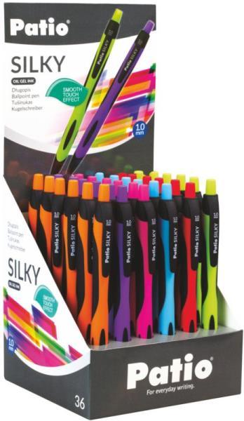 Długopis żelowy Silky niebieski p36 58742 cena za 1 sztukę