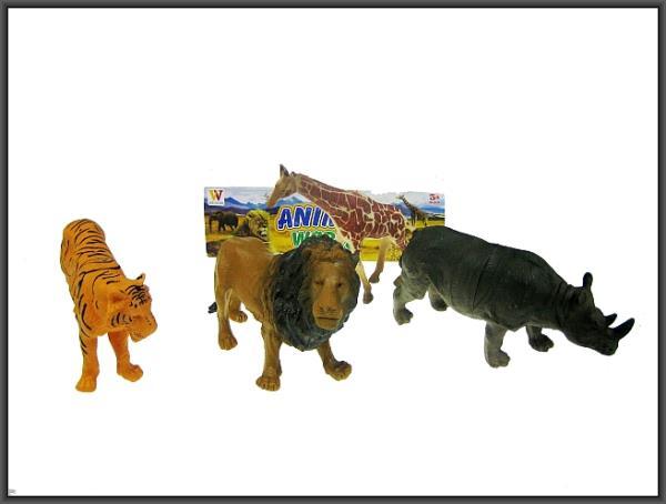 Zwierzęta dzikie 4 sztuki 21-24cm 2083A HIPO