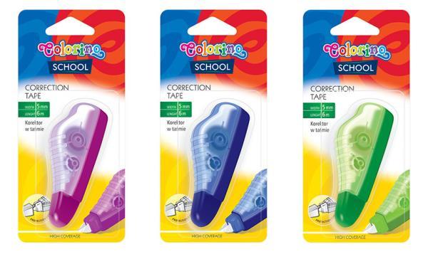 Korektor w taśmie 5mm x 6m Colorino School Kids p12 39545 cena za 1 szt