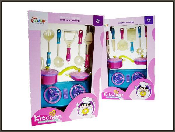 Zestaw z kuchnią 9 części w pudełku SM518-37 Cena za 1szt