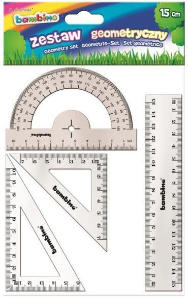 Zestaw geometryczny 4 elementowy 20cm bambino
