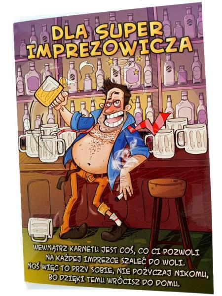 """PROMO Karnet złoty """"Dla super imprezowicza"""" Verte"""