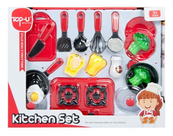 Naczynia kuchenne + kuchenka 42x32x42cm MC