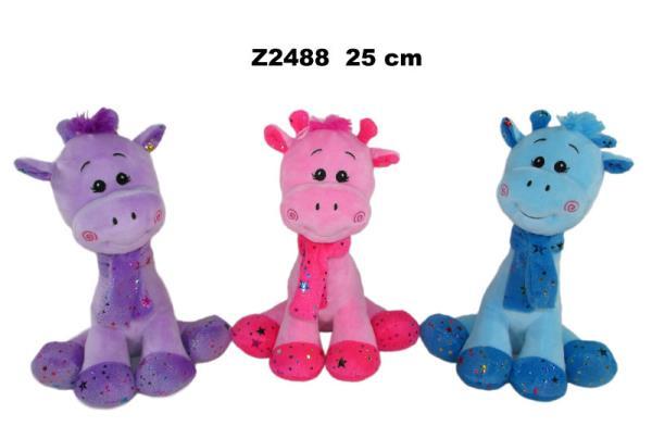 Żyrafa 3 kolory 25 cm Cena za 1szt